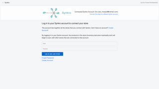 Connect your stores to a Synkro acocunt
