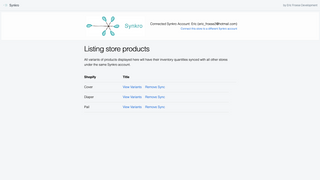 View synced products in stores