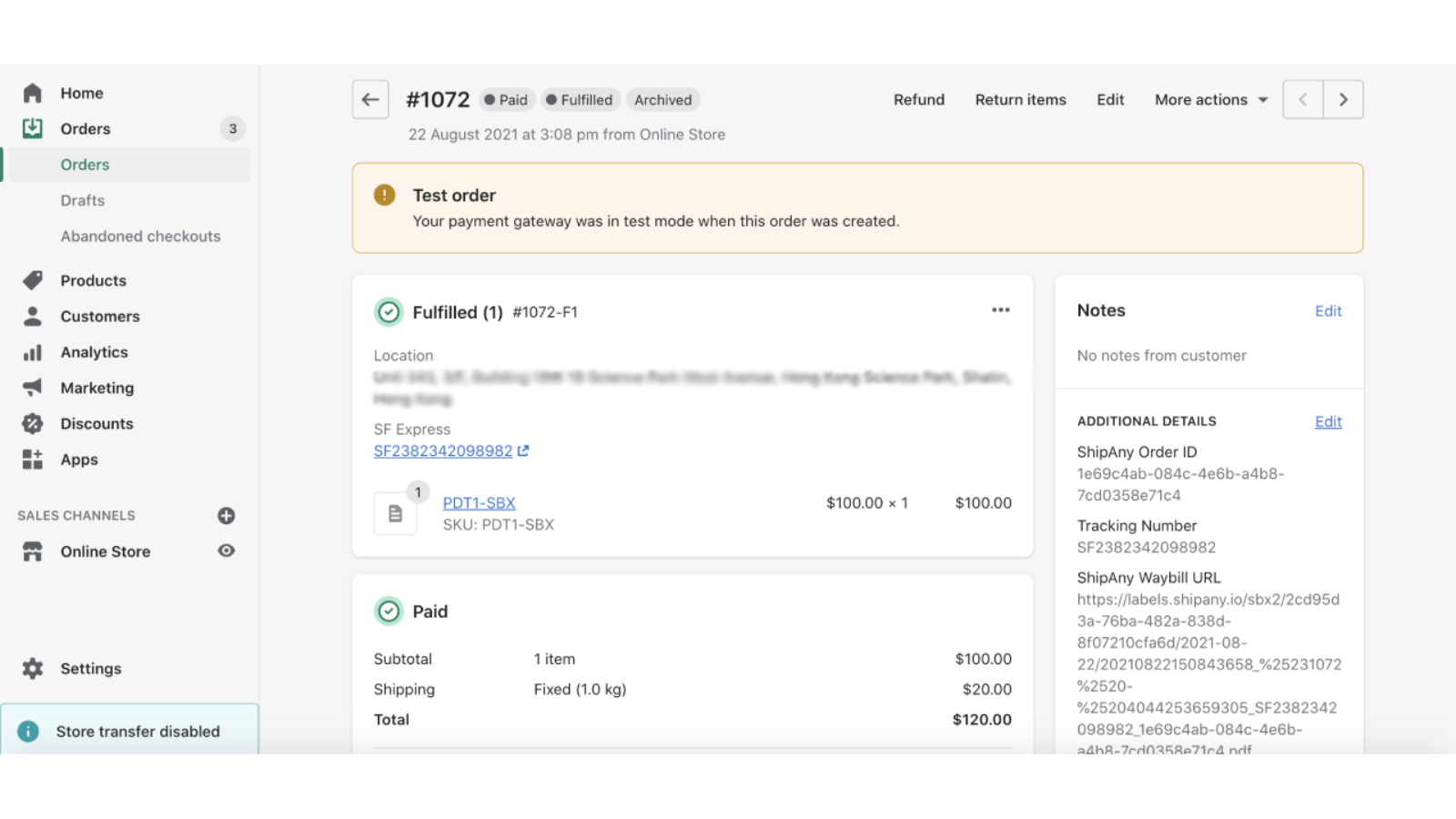Order Tracking and Mark Fulfilment on Shopify Order
