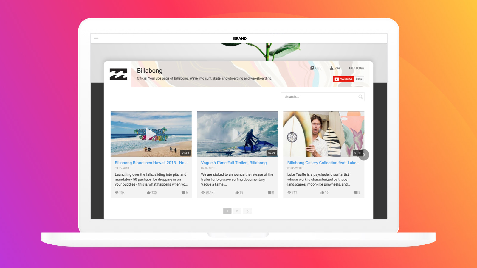 Enjoy the balanced look of the youtube widget with any website