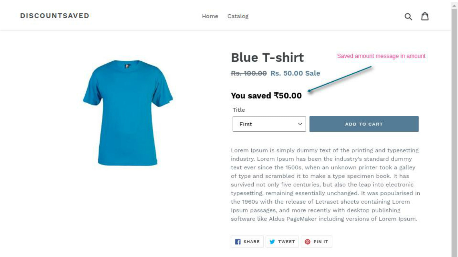 Discount Saved shopify app