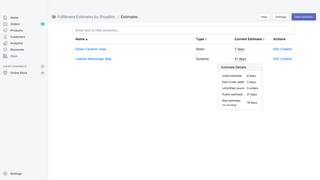 View and manage all of your estimates in one easy place