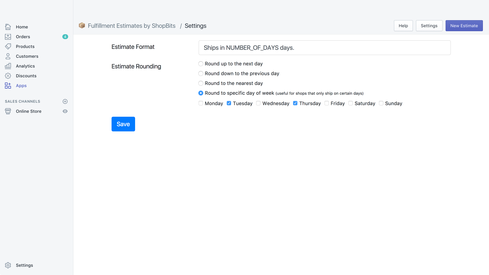 Easily customize how your estimates are calculated and displayed
