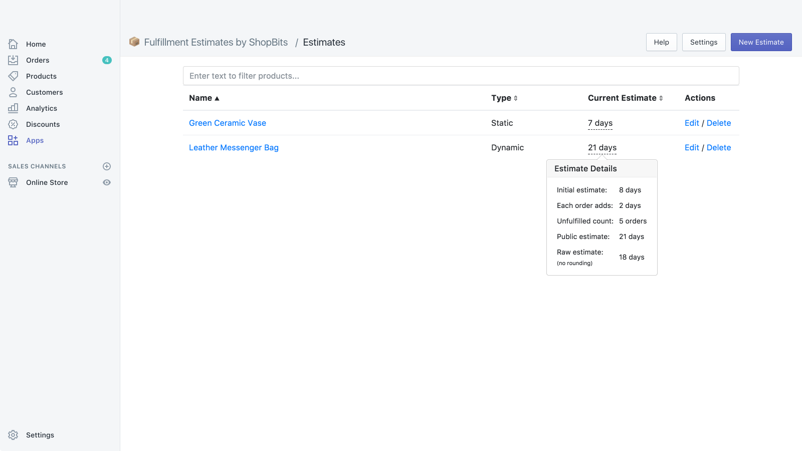 Easily create new estimates using our intuitive editor