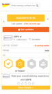 Parcel and order delivery detailed information in a fully brande