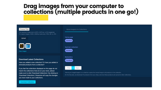 Drag images to collections (multiple products)