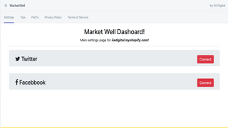 Botx main page in shopify admin section