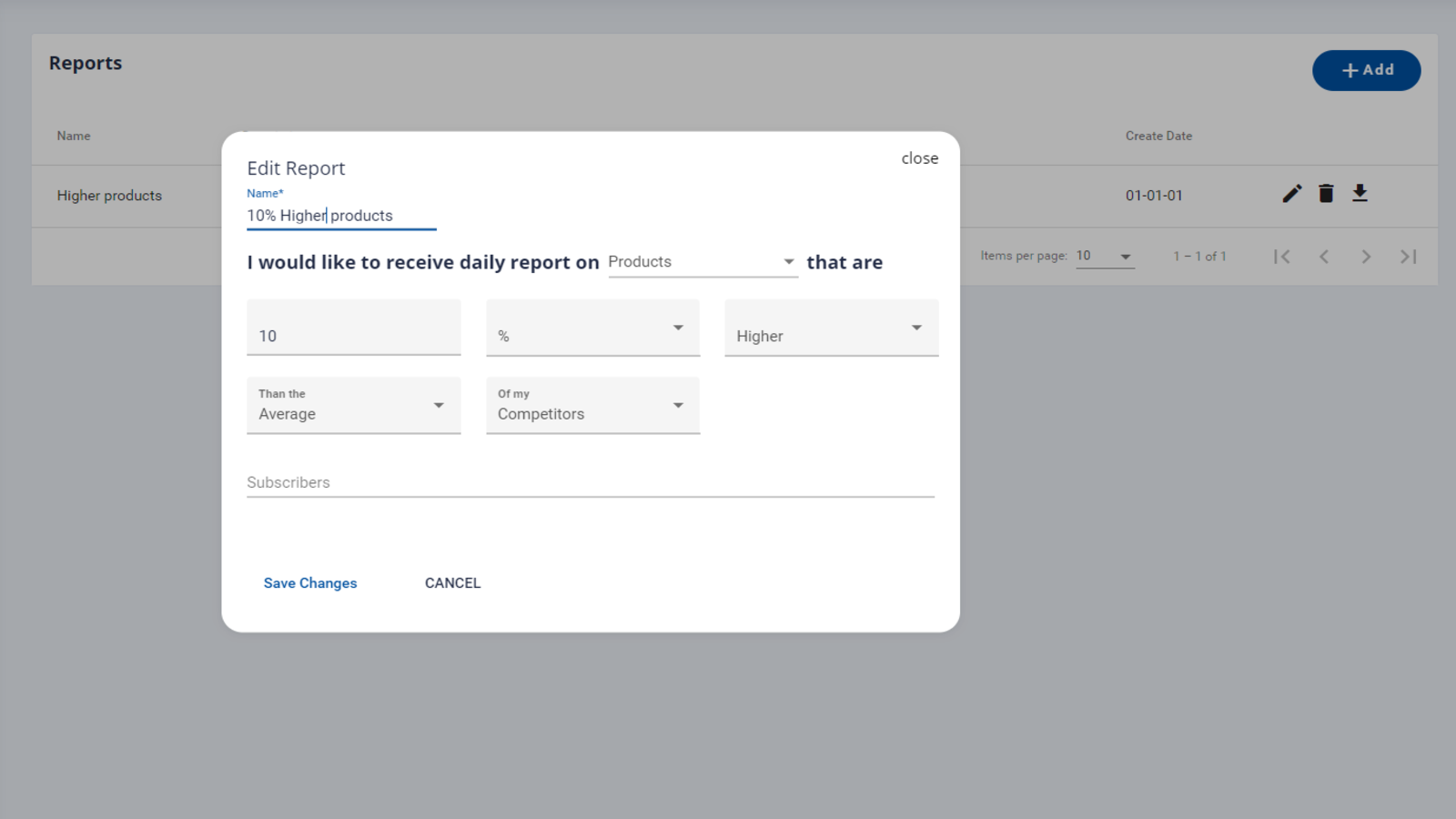 Set daily reports to stay up to date.