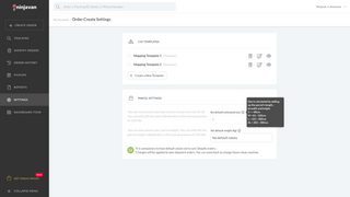 Set up default parcel settings for your Shopify orders