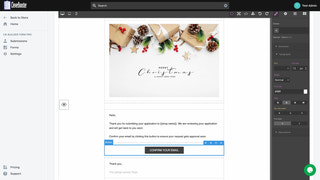Drag/Drop Email template