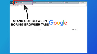Stand out between boring browser tabs