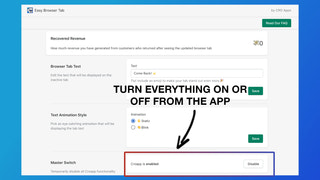 Turn everything on or off from the app