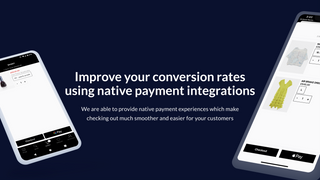 Improve your conversion rates using native payment integrations