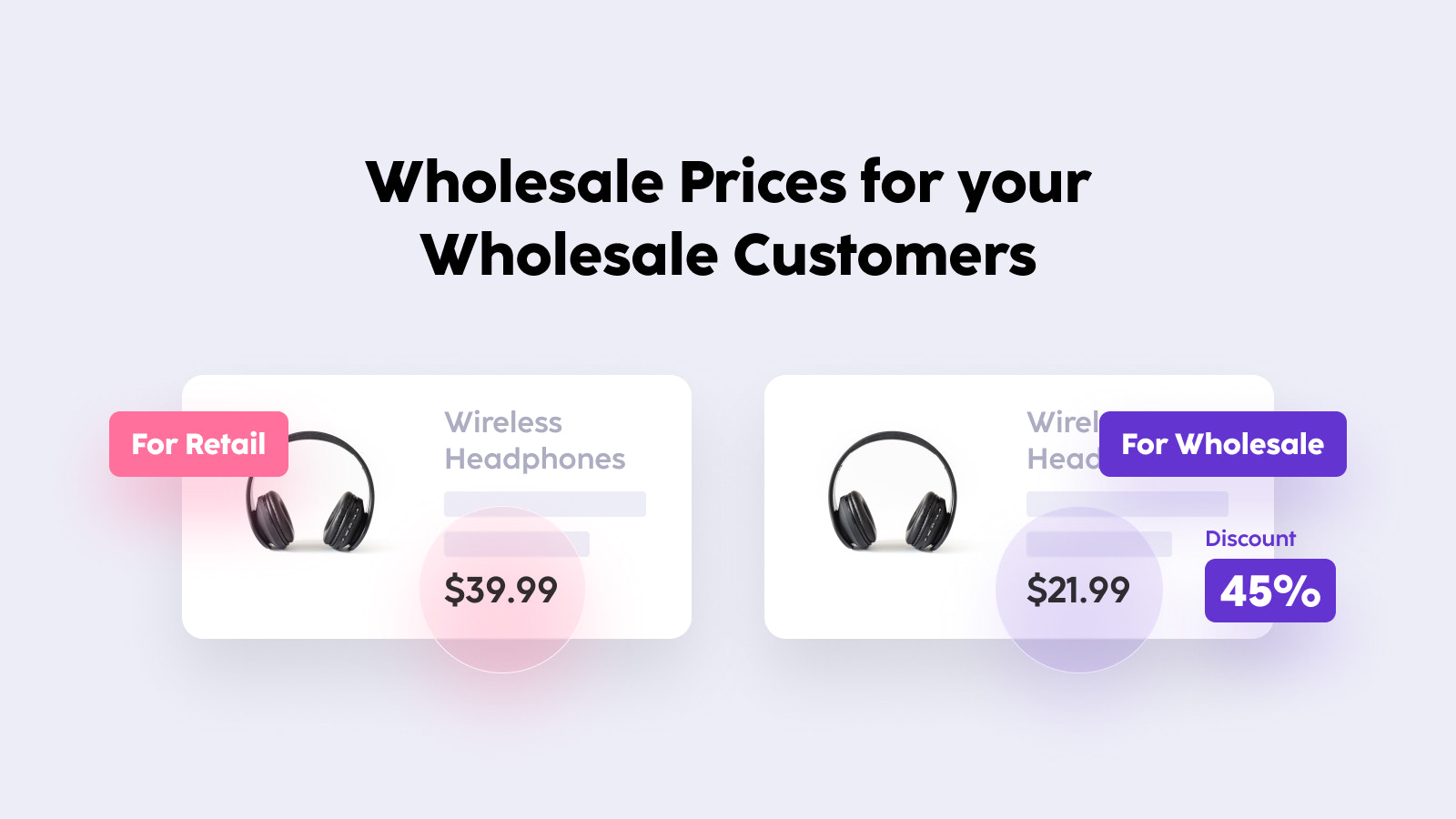 Wholesale Prices for your Wholesale Customers