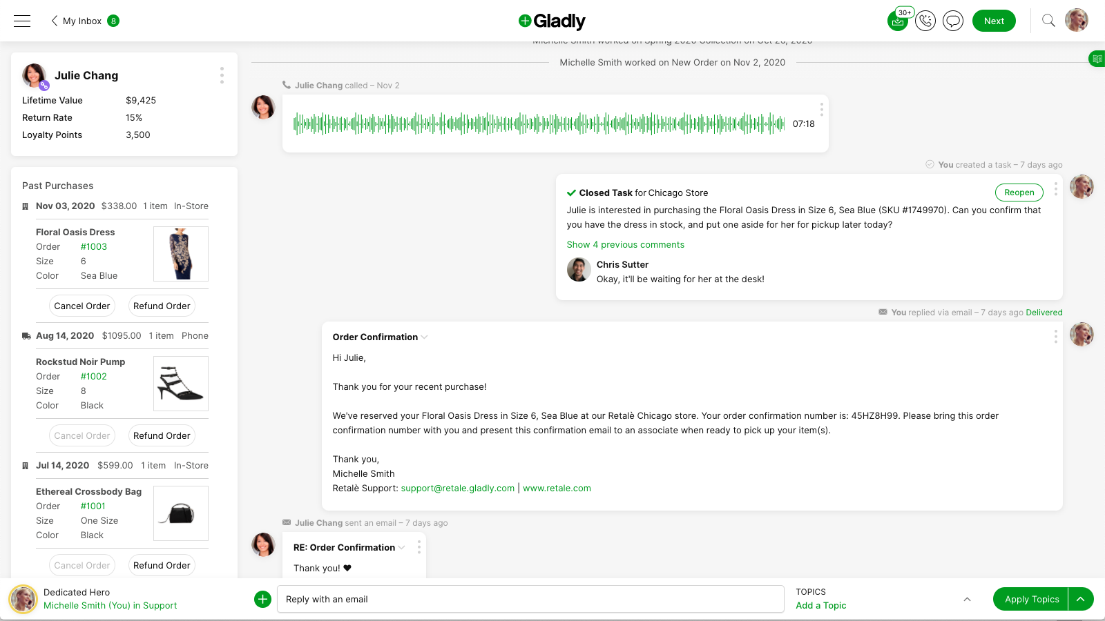 Full Customer View with a Single Conversation Timeline