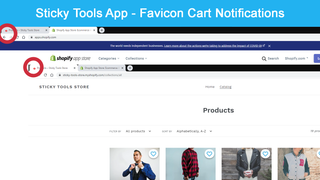 Favicon cart notifications