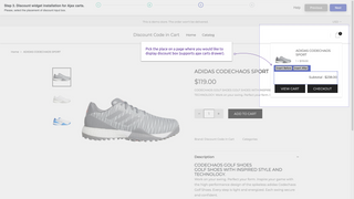 Ability to select placement of the discount code in cart.