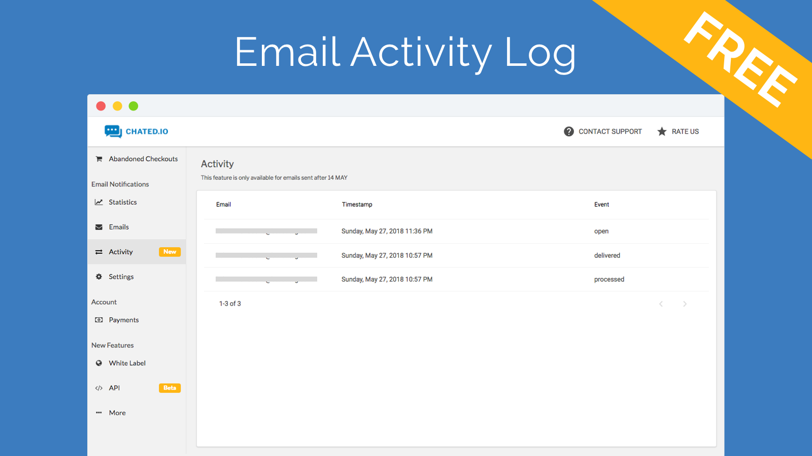 Email Activity Log