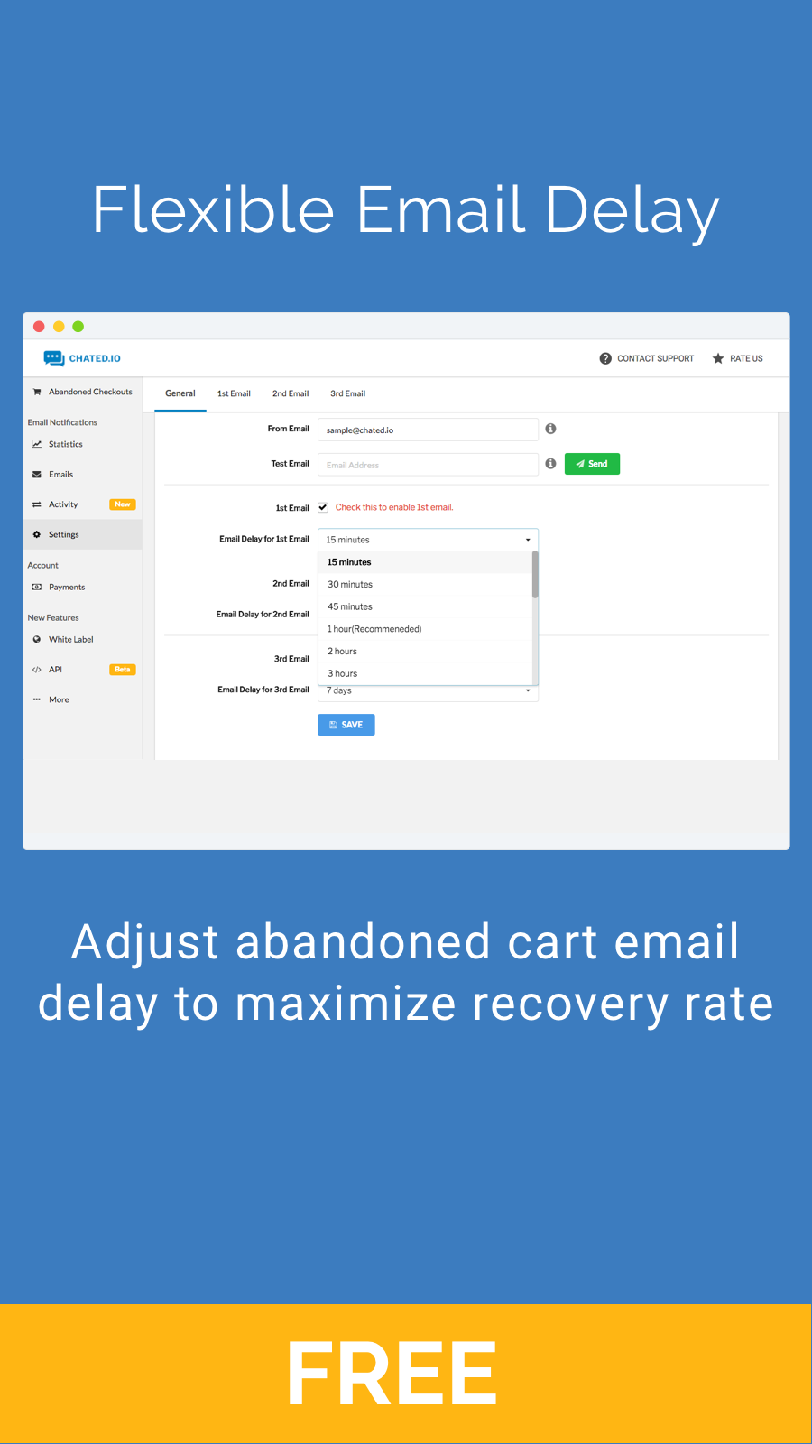 Flexible Email Delay