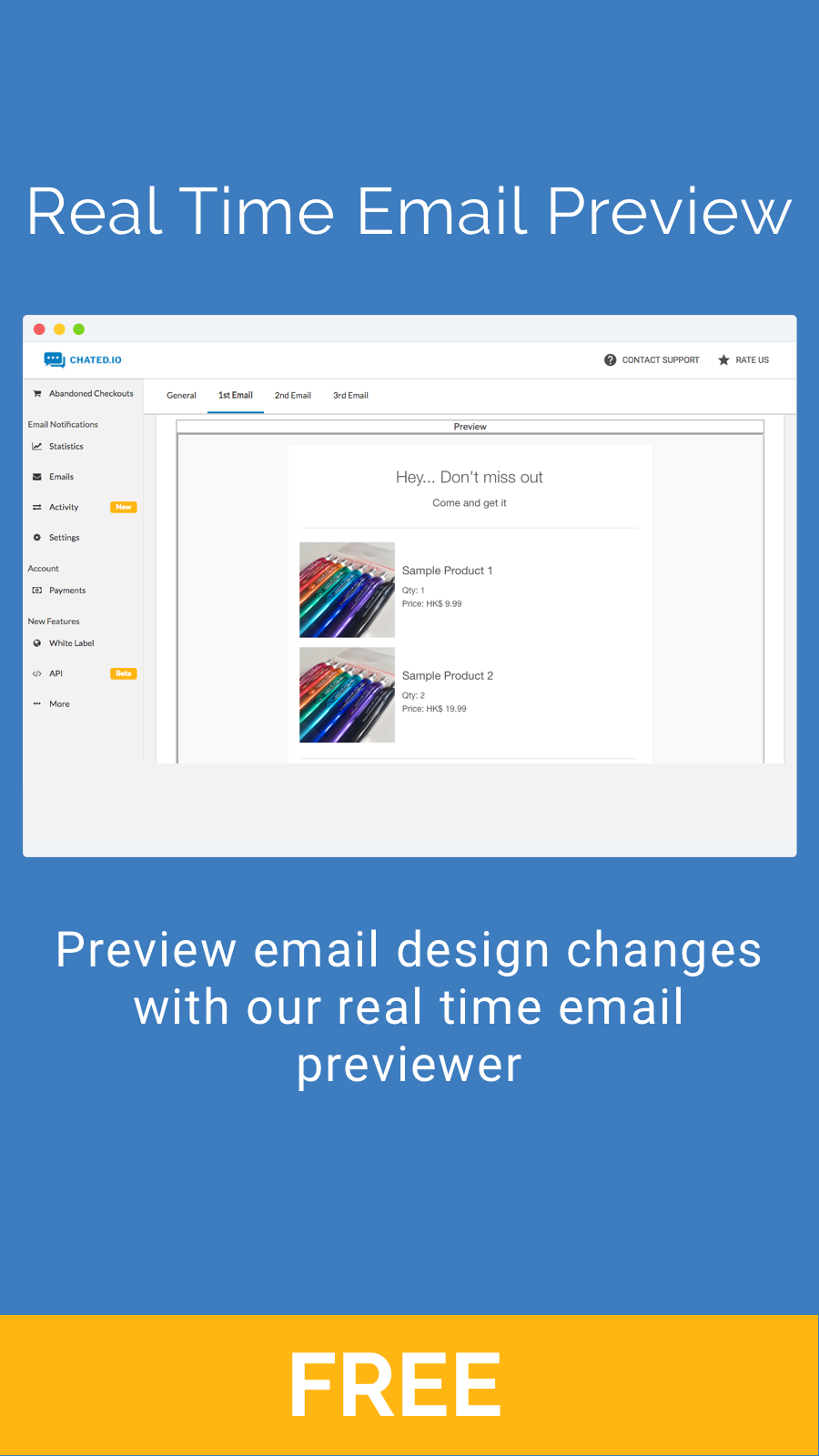 Real Time Email Preview