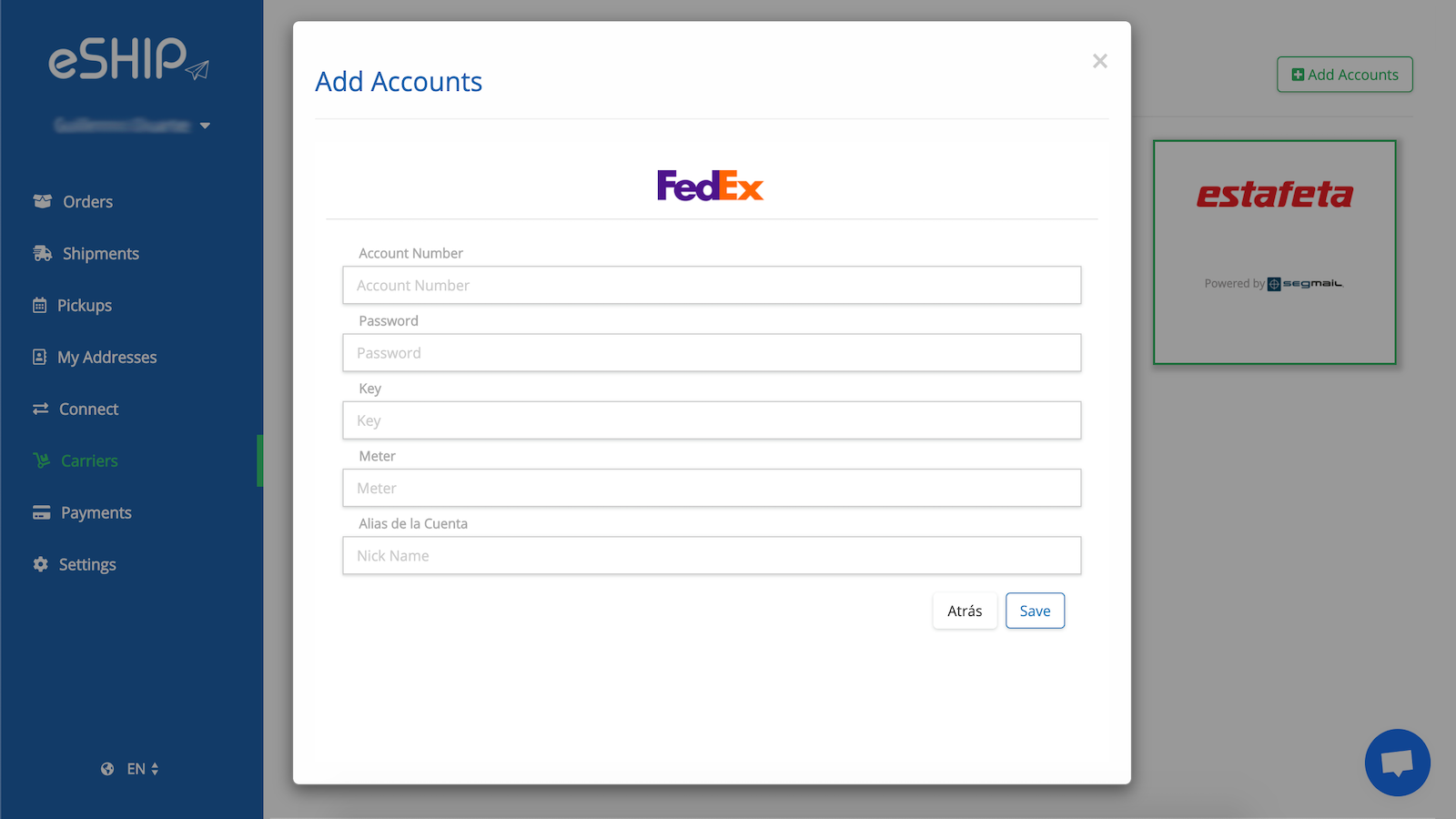 Add your accounts