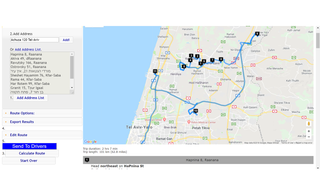 Optimize routes - with one click optimize your route.