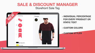 Custom Sale Tag - individual percentage for every product