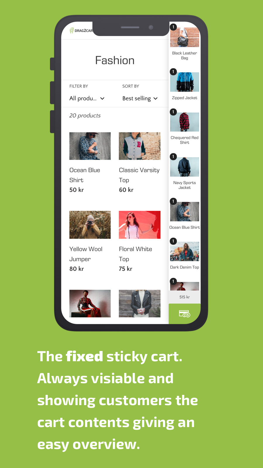 cart, sticky, fixed, mobile, checkout