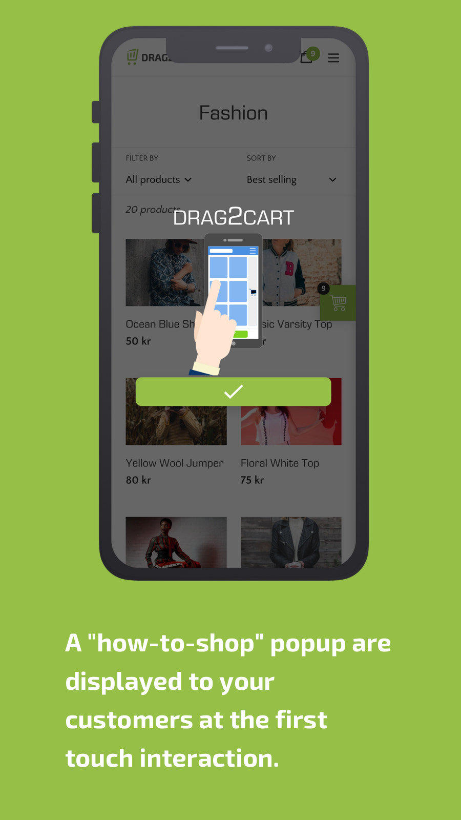 how-to.shop, popup, mobile, drag, to, cart, sticky