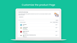Product pages