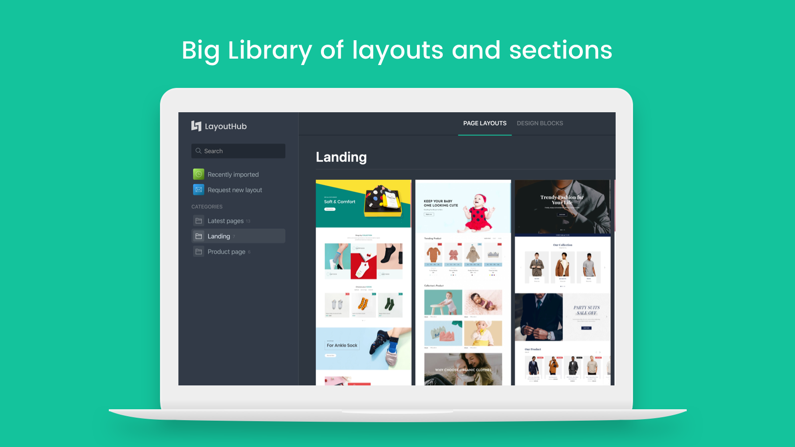 Big Library of layouts and sections