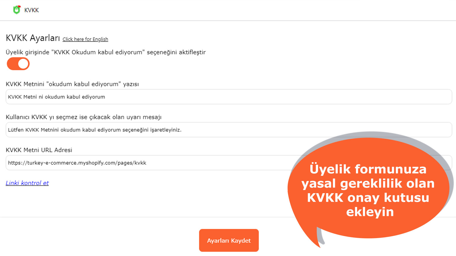 Add legal requirement KVKK checkbox to your site
