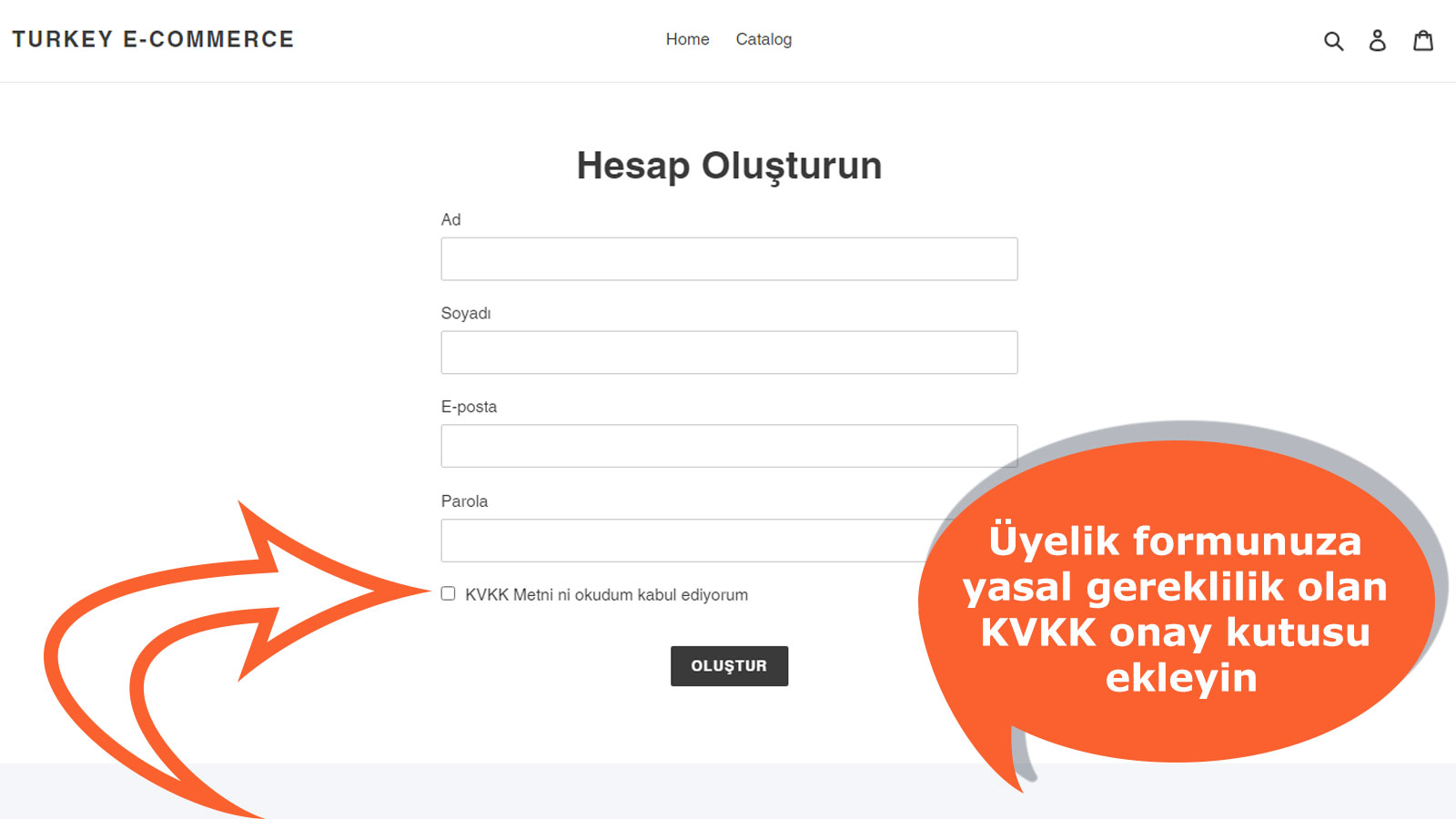 Add the legal requirement KVKK checkbox to the newsletter form