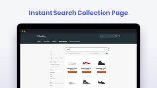 Instant Search Collection Page