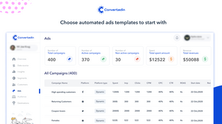 Converted.in Campaigns that are created through ready templates