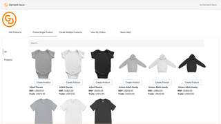 Build your catalog with clothing, accessories, and home decor.