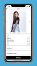 Users can check out in the Wanelo app with Apple Pay