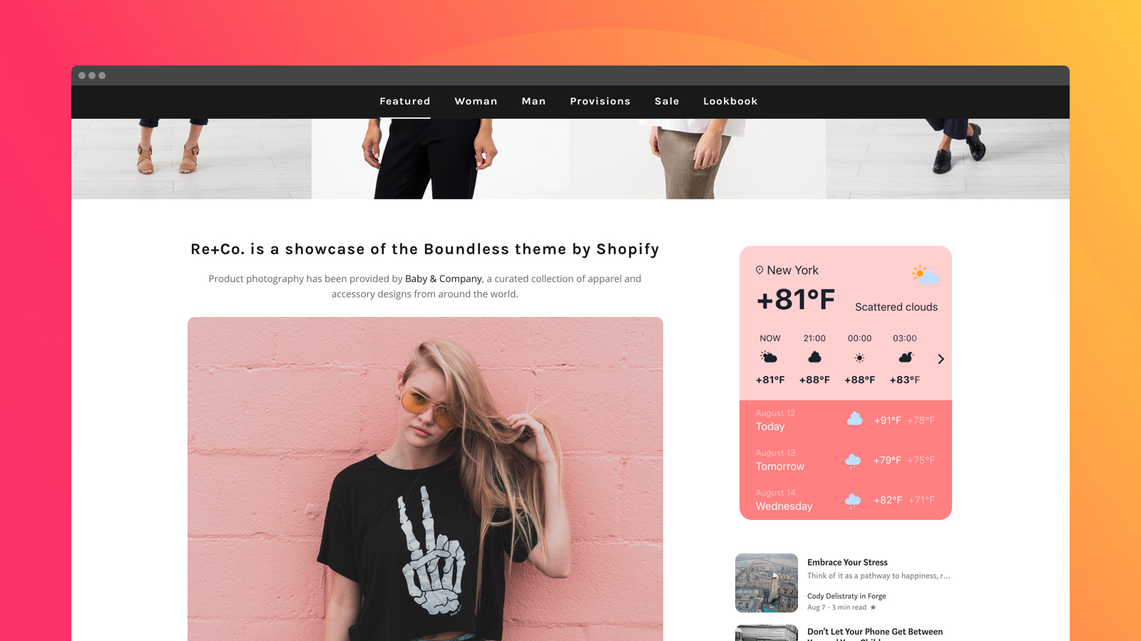 Clean design to fit into any website concept