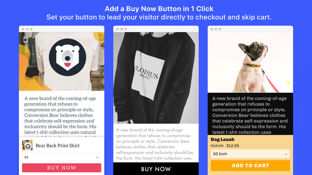 Conversion Bear Ultimate Sticky Add to Cart Editor
