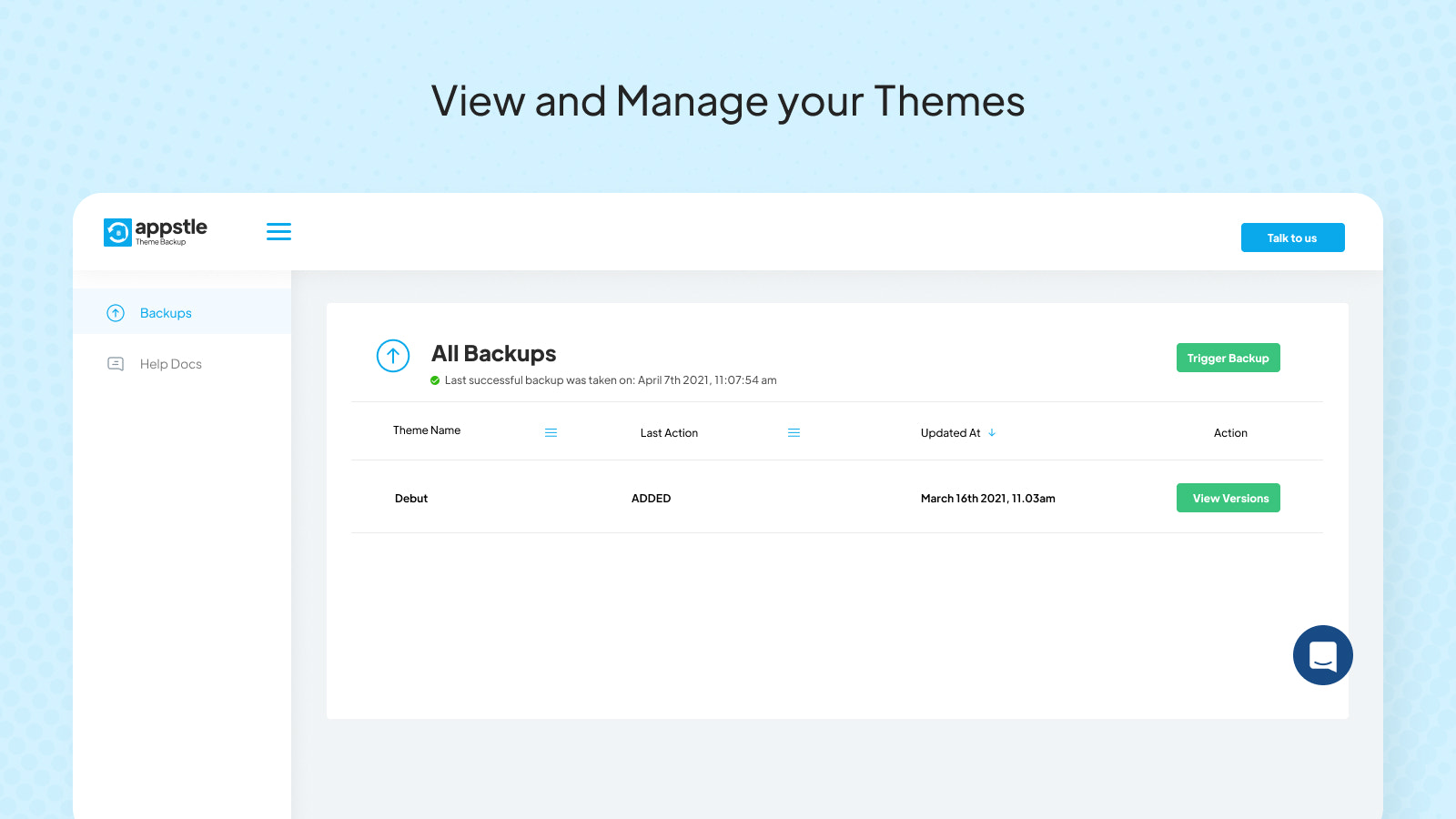 View and Manage your Theme