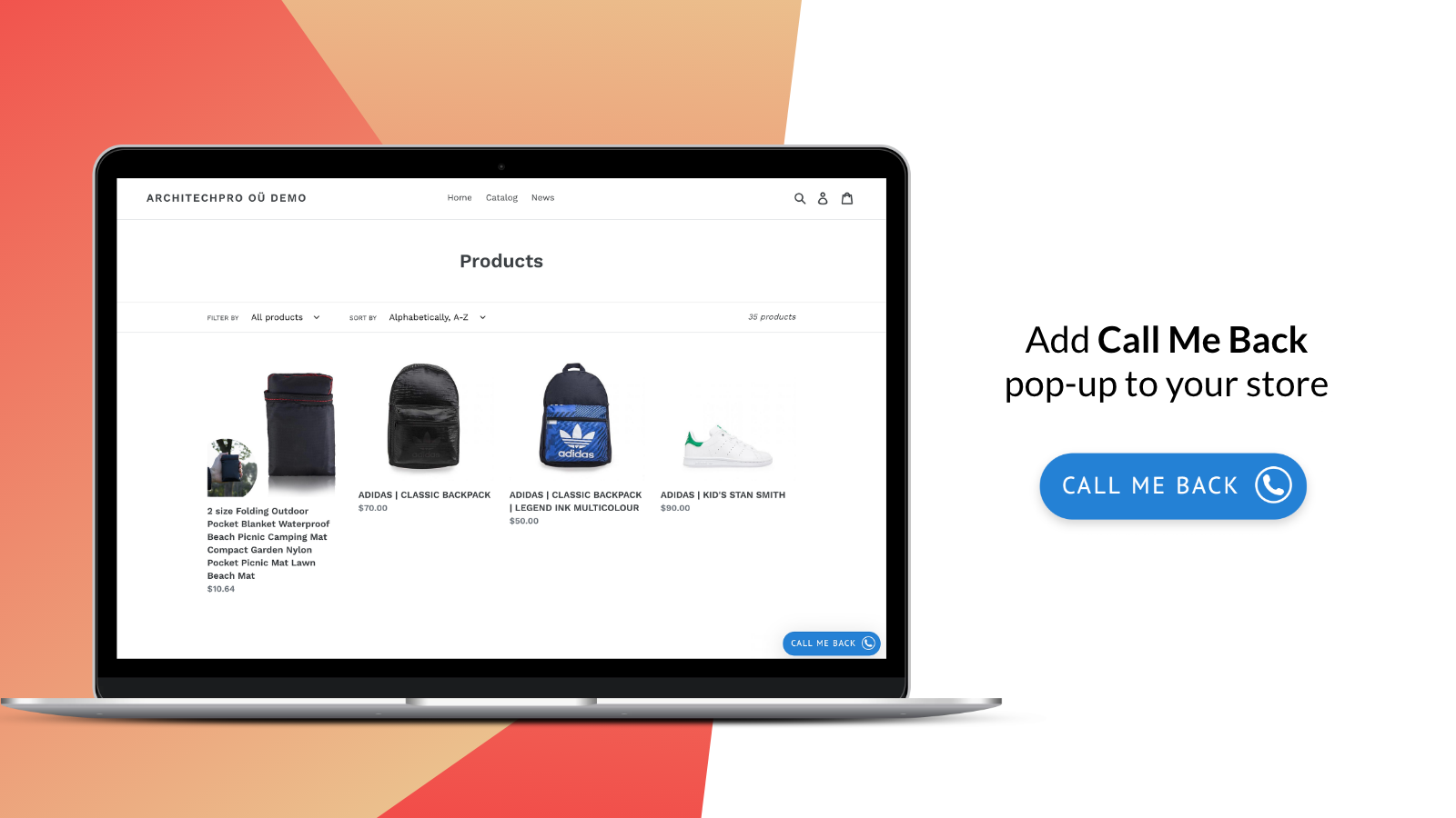 Callback request popup –button that helps to get new leads