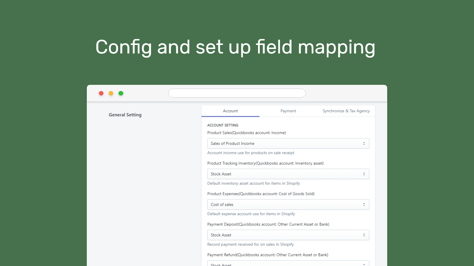 Account mapping
