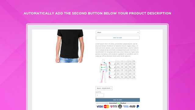 ATClone Shopify App - Second add to cart button