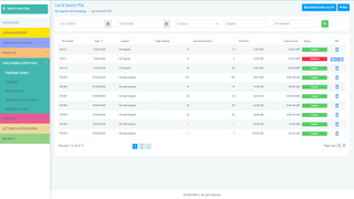 Stock control and Purchasing all in one place