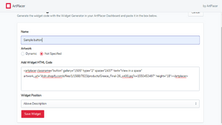 Copy html code from Artplacer widgets ans paste in the input box