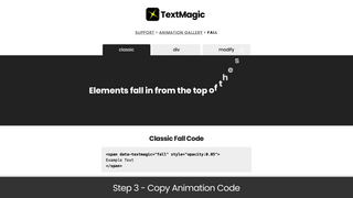 Step 3 - Copy Animation Code