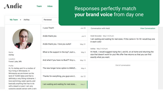 Responses perfectly match your brand voice from day one