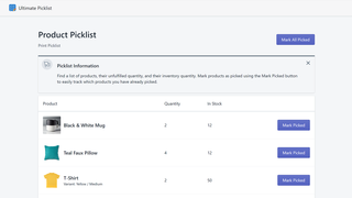 Product Picklist Example