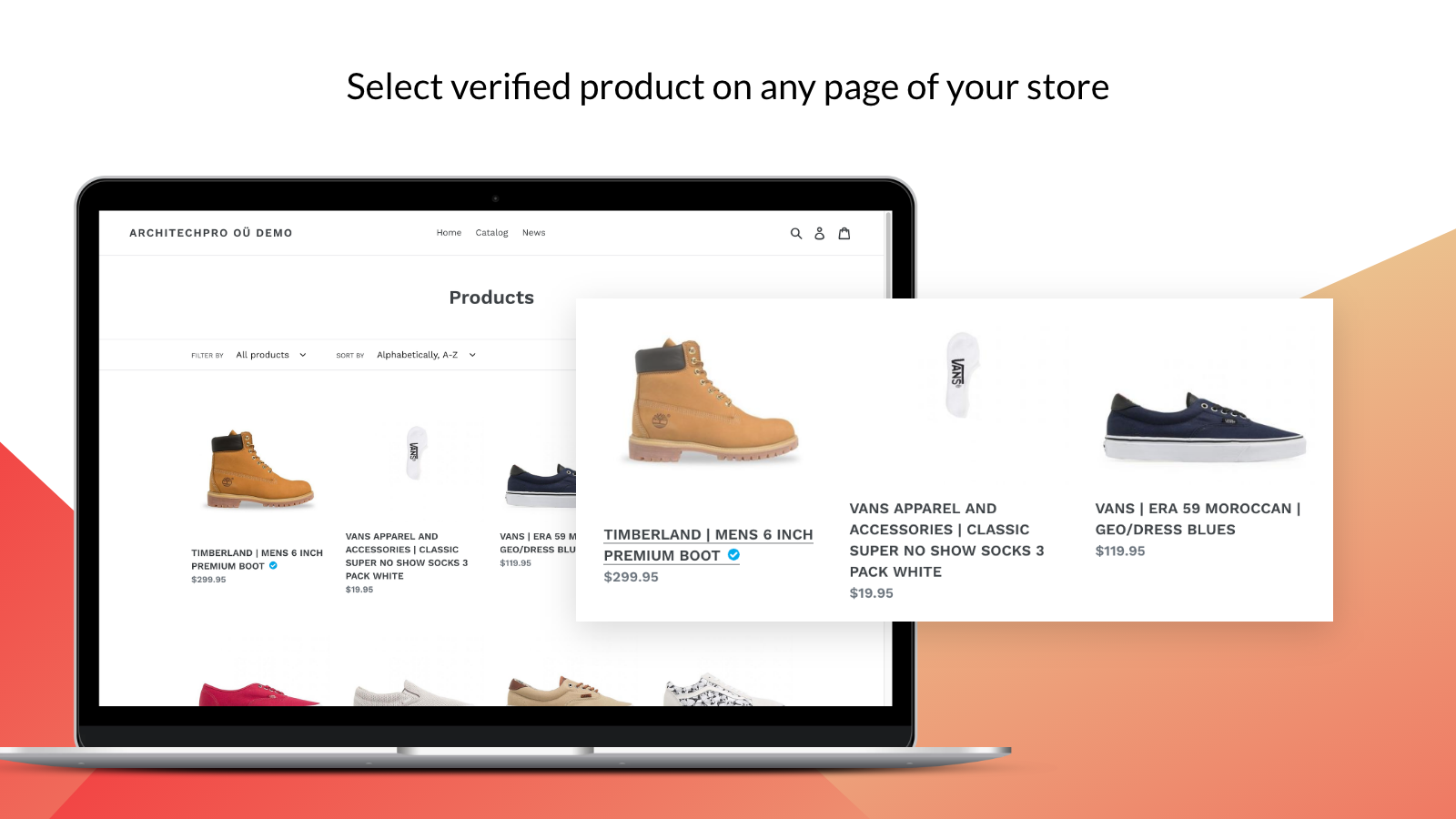 Verified / Featured products for Shopify –Collection