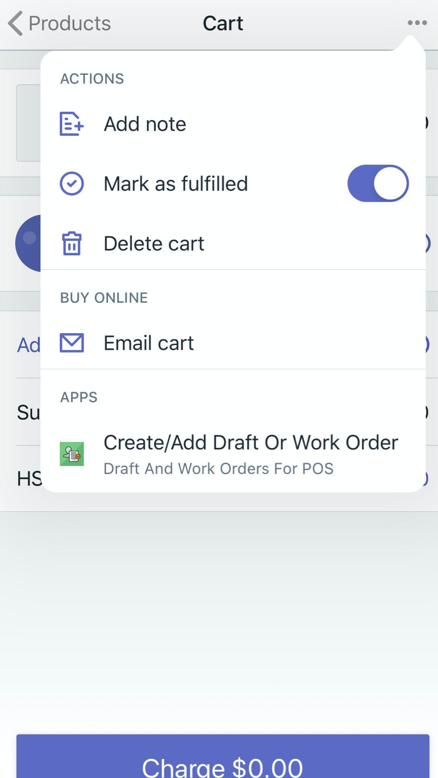 Draft Orders For POS Link - Mobile POS
